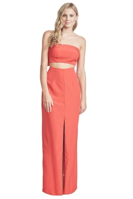 George - Zara Gown - Coral - Front