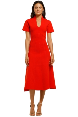 Ginger-and-Smart-Valour-Knit-Dress-Geranium-Front