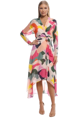 Ginger & Smart - Chroma Wrap Dress - Multi - front