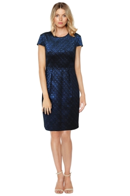 Ginger Smart - Metal Heart Dress - Blue - Front