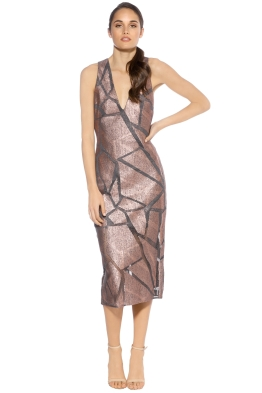 Ginger Smart - Myriad Sleeveless Dress - Rose Gold - Front
