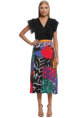 Gorman - Patchwork Punch Pleat Skirt - Print - Front