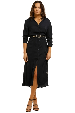 Grace-Willow-Ally-Shirt-Dress-Midnight-Front
