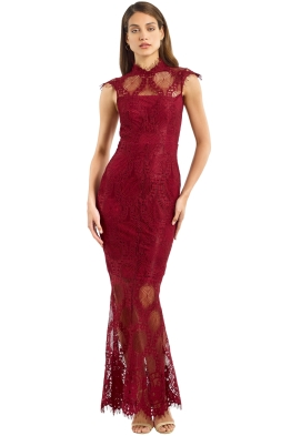 Grace _ Hart - Queen Bee Gown - Wine - Front