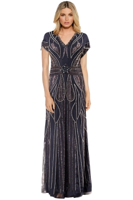 Grace and Blaze - Atlantis Gown - Gunmetal - Front