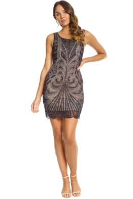 Grace and Blaze - Gatsby Dress - Black - Front