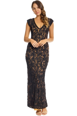 Grace and Blaze - Museum Dress - Black - Front