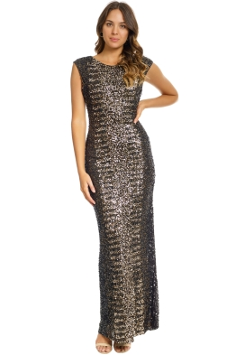 Grace and Blaze - Oscar Gown - Gold - Front