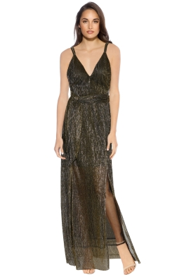 Grace and Hart - 80's Fever Slip Dress - Gold - Front