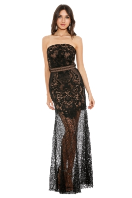 Grace & Hart - Adele Gown - Black - Front