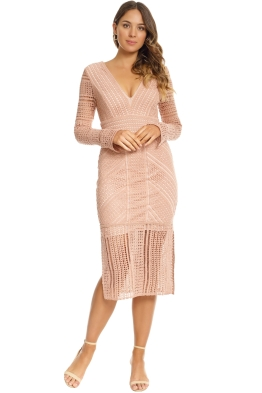 Grace & Hart - Allure Fitted Dress - Blush - Front