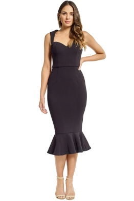 Grace and Hart - Aviary Midi Dress - Black - Front