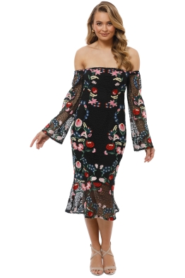 Grace and Hart - Cavalier Off Shoulder Dress - Multi - Front