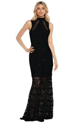 Grace & Hart - Floral Fantasia Gown - Black - Front