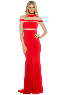 Grace & Hart - Muse Gown - Ruby Red - Front