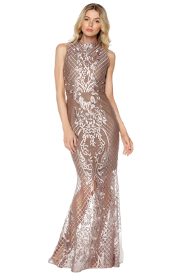 Grace & Hart - Ignite Passion Gown - Mushroom - Front