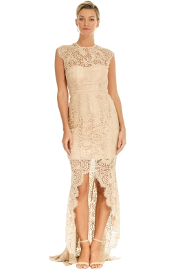 Grace and Hart - Mystic Lace Hi-Lo Dress - Nude - Front