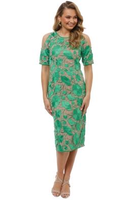 Grace and Hart - Primrose Cold Shoulder Dress - Green - Front