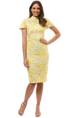 Grace and Hart - Primrose Midi Dress - Yellow - Front