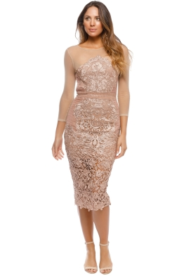 Grace & Hart - Renaissance Midi Dress - Blush - Front