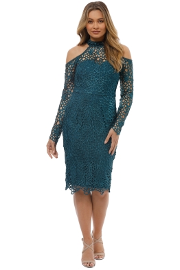 Grace and Hart - Scandal Fitted Midi - Teal - Front