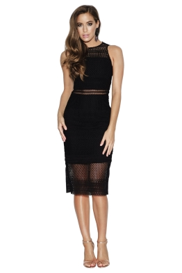 Grace and Hart - Show Me Up Fitted Midi - Black - Front