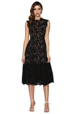 Grace and Hart - Valentine Flare Midi - Black - Front