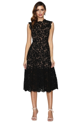 Grace & Hart - Valentine Flare Midi - Black - Spring Wedding
