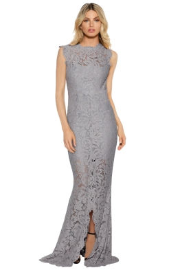 Grace & Hart - Valentine Gown - Silver - Front