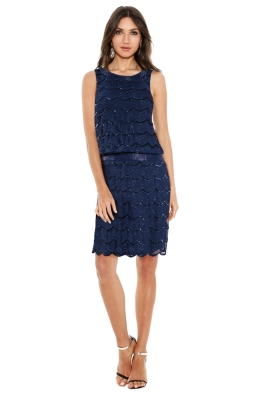Grace & Blaze - Ritz Dress - Navy - Front