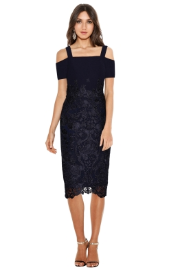 Grace & Hart - Breathless Love Midi - Navy - Front