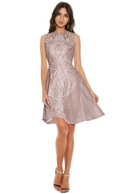 Grace & Hart - Center Stage Flare Midi - Nude - Front