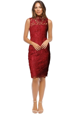 Grace & Hart - Prosecco Dress - Red - Front