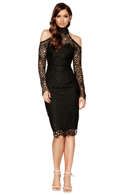 Grace & Hart - Scandal Fitted Midi - Black - Front