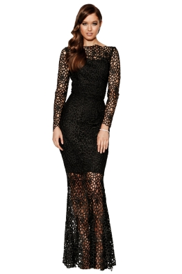 Grace & Hart - Scandal Gown - Black - Front