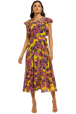 Husk-Tropicana-Dress-Yellow-Pineapple-Front