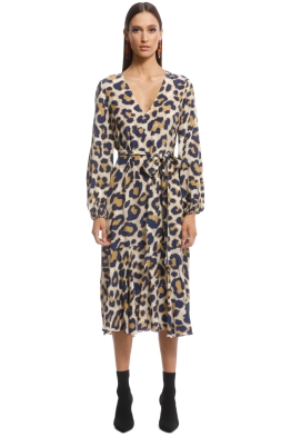 Husk - Talitha Dress - Leopard - Front