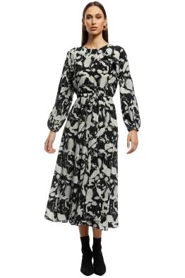 Husk - Utopia Dress - Black Floral - Front
