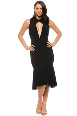 Rebecca Vallance - Bravado High Neck Plunge Dress - Front