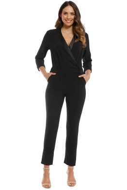 Iris and Ink - Liberty Crepe Jumpsuit - Black - Front