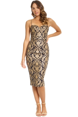 Jadore - Carita Dress - Gold - Front