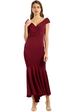 Jadore - JX056 - Elyse Gown - Ox Blood - Front