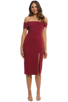 Jay Godfrey - Darryl Midi Dress - Boysenberry - Front
