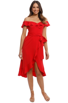 Jay Godfrey - Elle Dress - Bright Red - Front