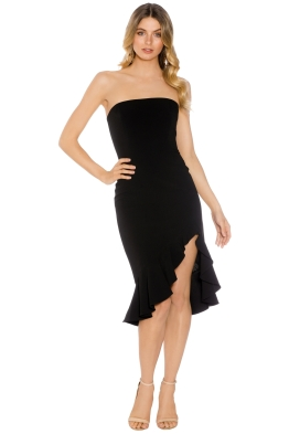 Jay Godfrey - Harrington Ruffle Dress - Black - Front