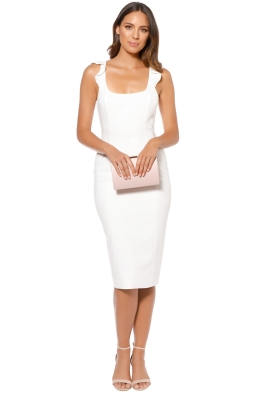 Jay Godfrey - Marois Midi Dress - Ivory - Front