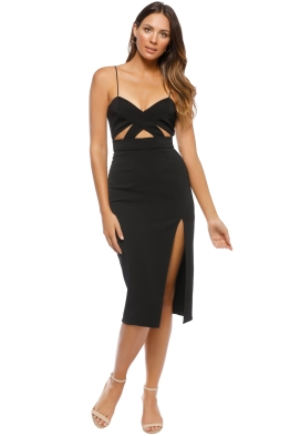 Jay Godfrey - Roper Dress - Black - Front