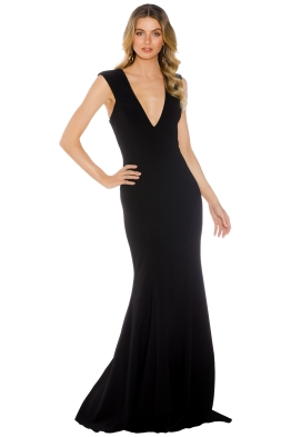 Jay Godfrey - Victoria Light Gown - Black - Front