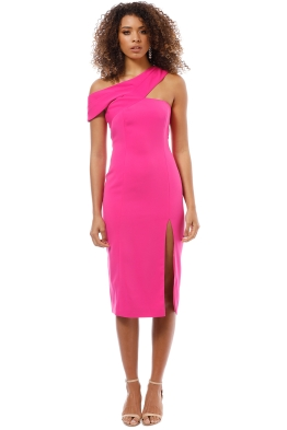 Jay Godrey - McKoy Midi Dress - Bright Fuchsia - Front