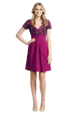 Jayson Brunsdon - Emmanuelle Dress - Front - Red